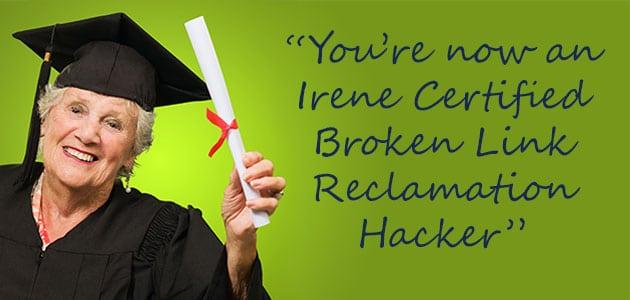 Link Reclamation Certificate