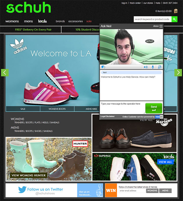 Schuh Webcam Live Chat Help
