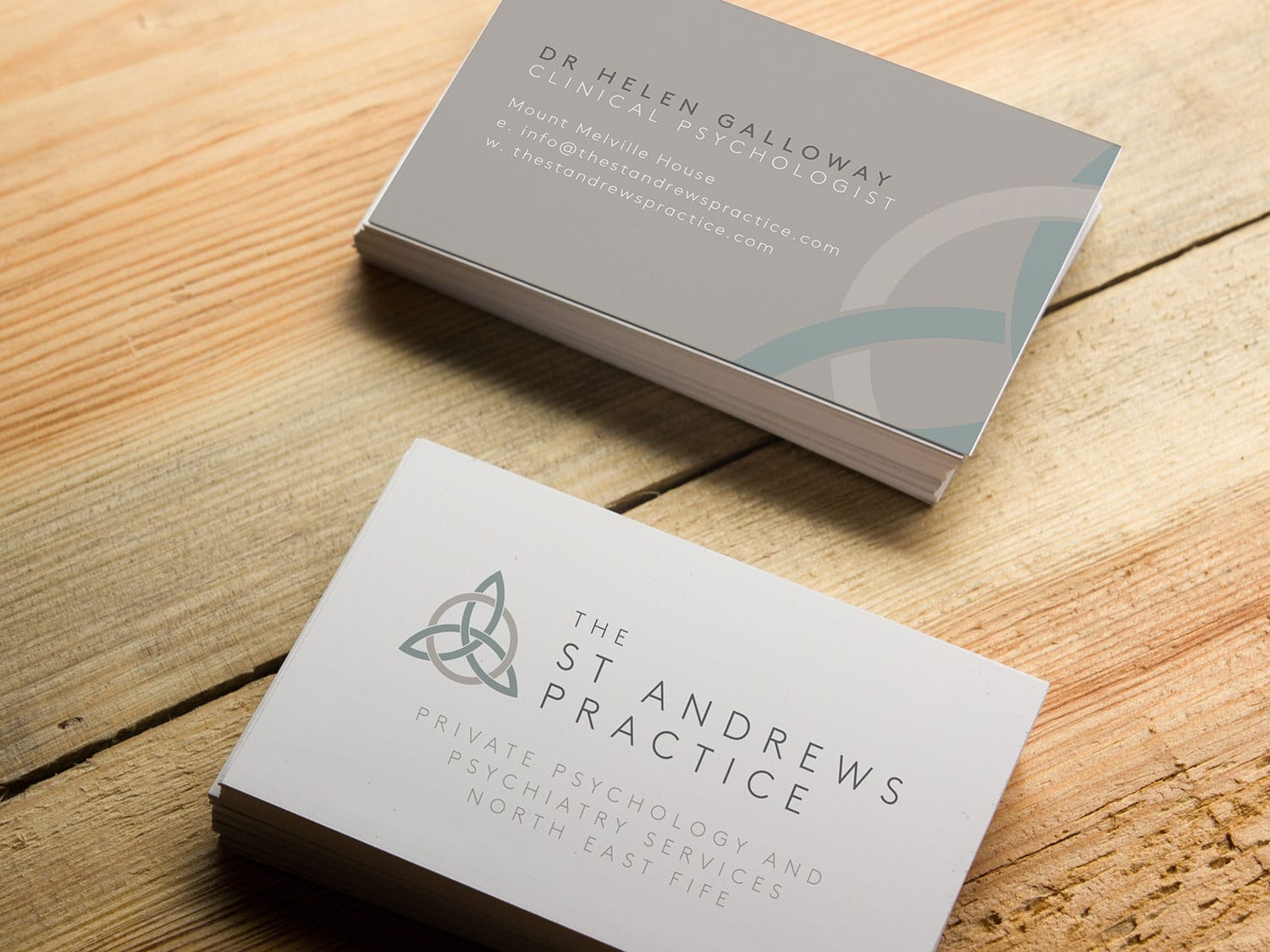 The St Andrews Practice Business Cards