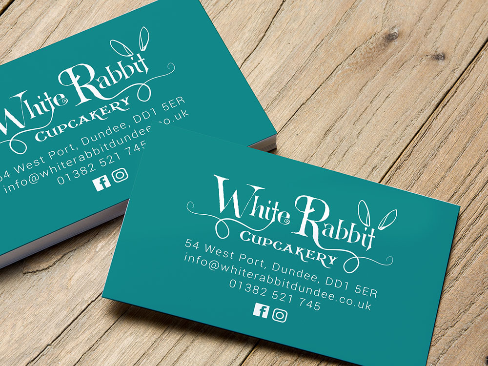 White Rabbit Cupcakery Business Cards