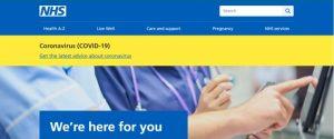 NHS Colour Branding using Blue