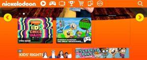 Nickelodeon Colour Branding using Orange