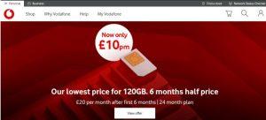 Vodafone Colour Branding using Red